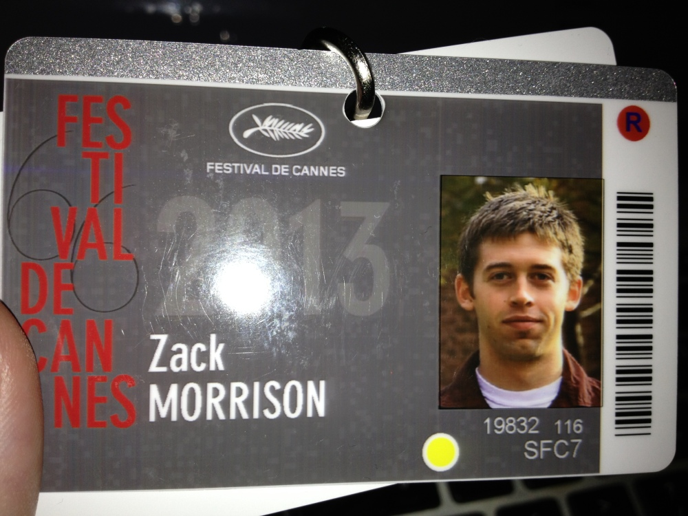 This happened today too:  My all-access festival badge.  The little red dot makes it more legit apparently.