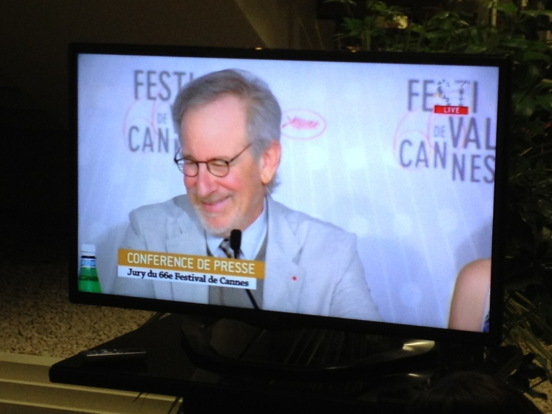 Mr. President himself.  Spielberg is the president of the jury this year, meaning he is basically God.  As if he wasn't already.  There are thousands of shrines and worshipers all around Cannes.  I'm one of them.