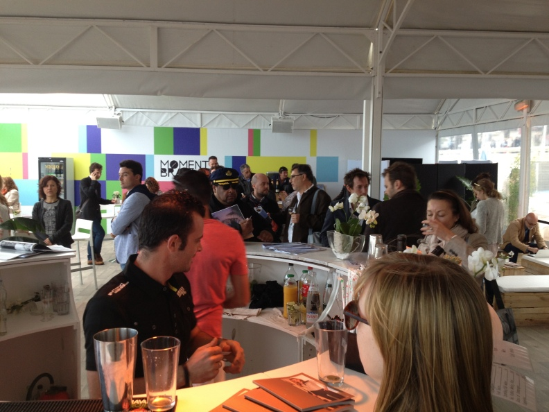 We got invited to an exclusive party held by the Brazilian film pavilion.