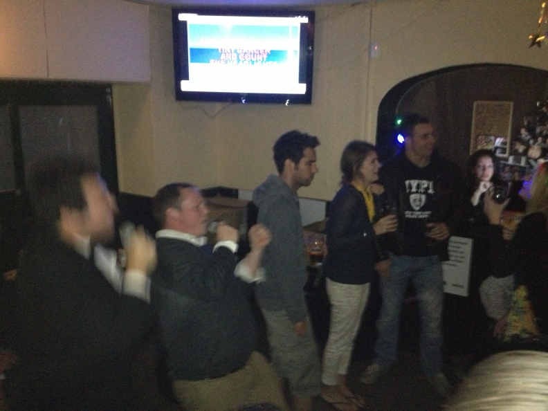 Afterwards, we went to karaoke.  It was classic.