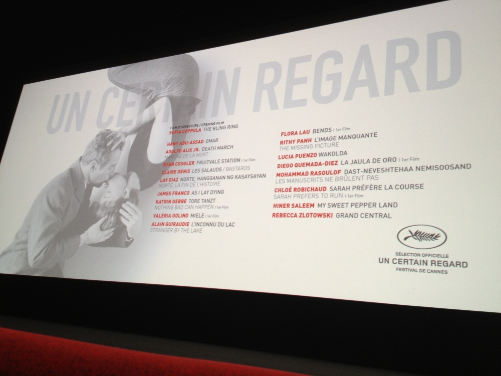 The list of Un Certain Regard films.  If any of them come to the US, I definitely recommend seeing them.