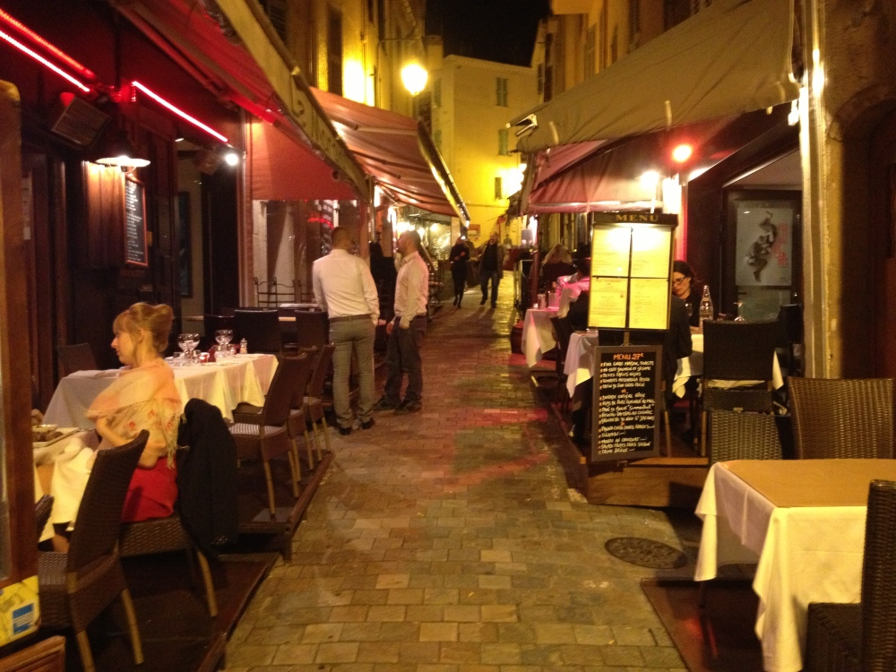 Old Cannes is so beautiful at night.