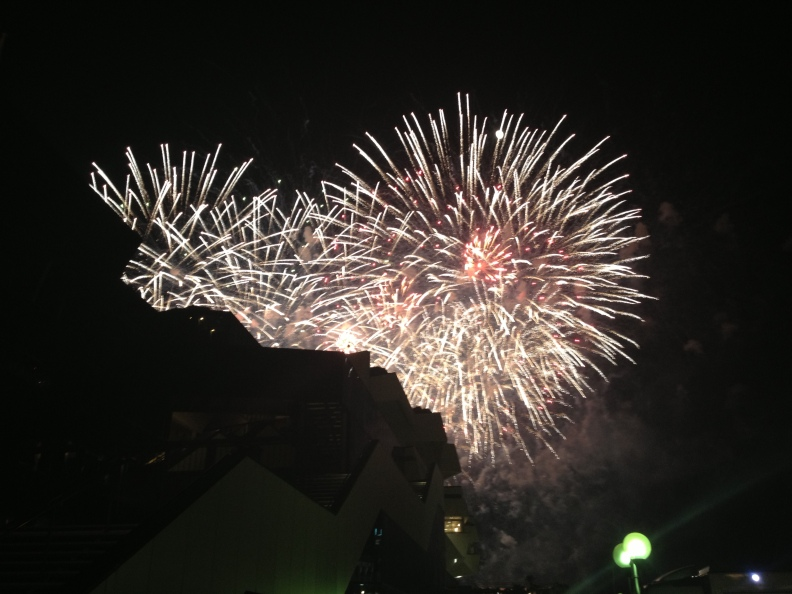 Impromptu fireworks by the Palais on the way home.  Do you think Spielberg fired them off from his Yacht?